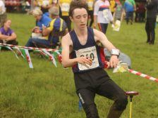Steven finishing fast at Croeso 2016